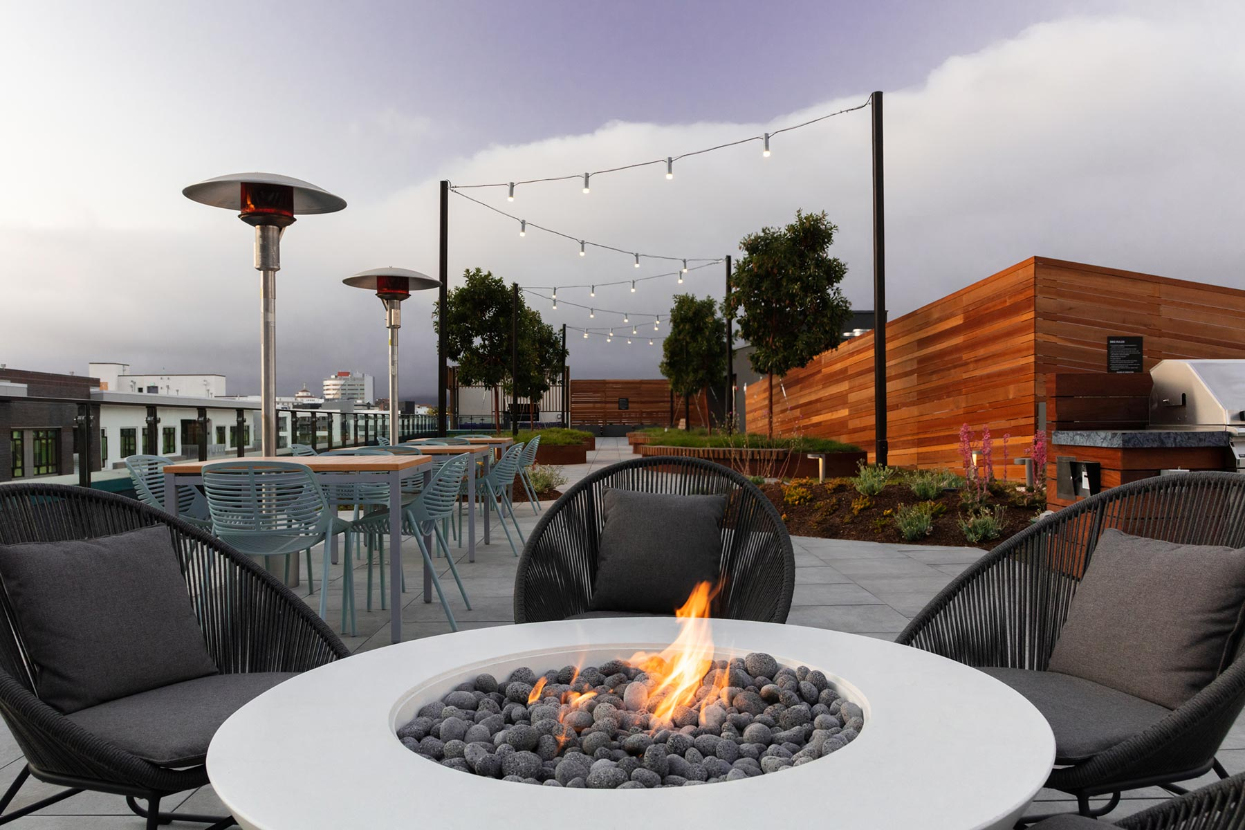 Alta Waverly | Exterior Courtyard, Firepit